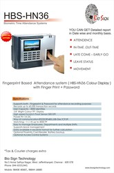 Biometric time attendance system in chennai