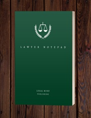 Legal Mind: Lawyer Notepad | Attorney Lawyer Personalized Notebook